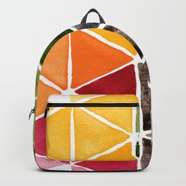 Bright Triangle Star Watercolor Backpack