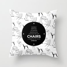 CHAIRS - A tribute to seats (special edition) Throw Pillow