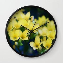Itty Bitty Yellow Flowers Wall Clock