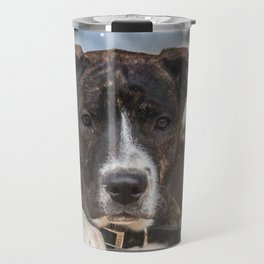 Cute Mastiff Rottweiler Mix  Puppy Travel Mug