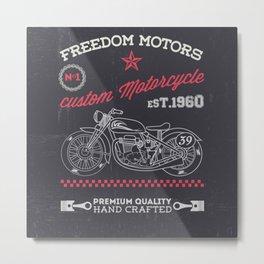 MotoBiKe RiDe 12 Metal Print