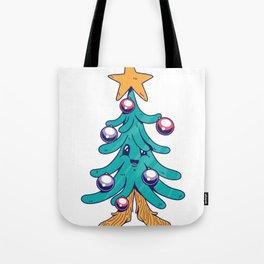 Tree Christmas Comic Tote Bag