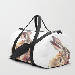 Rabbit Portrait Duffle Bag