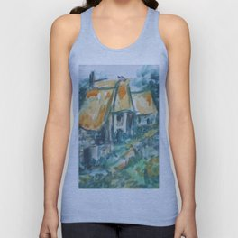 The houses along the road Unisex Tank Top