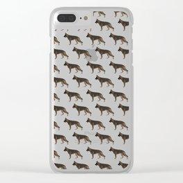 German Shepherd: Red Sable Clear iPhone Case