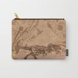 dino, jurassic, illustration, dinosaur, tyrannosaurus Carry-All Pouch