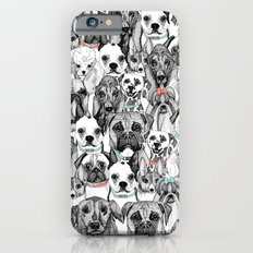 just dogs coral mint iPhone 6s Slim Case
