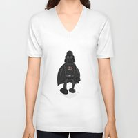 bender V-neck T-shirts featuring Darth Bender by Andy Whittingham