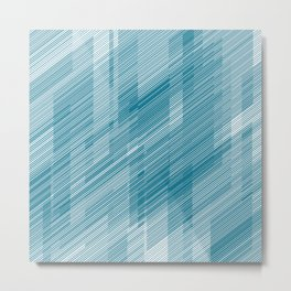 The Blue Hash - Geometric Pattern Metal Print