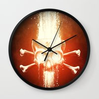 melissa smith Wall Clocks featuring Black Smith by Dr. Lukas Brezak