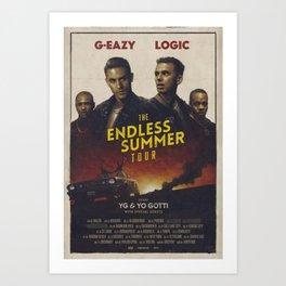 G-EAZY & LOGIC THE ENDLESS SUMMER TOUR 2016 Art Print