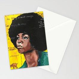 Angela Davis Drawings Feminist Icon Portrait Stationery Cards