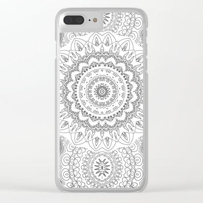 Moonchild Mandala Black And White Clear Iphone Case By Monikastrigel