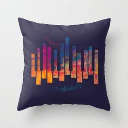Piano Color Throw Pillow