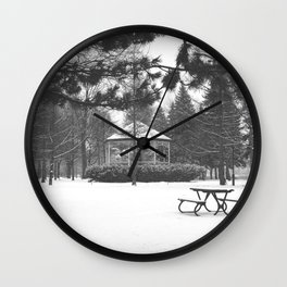 Winter in the park II Wall Clock