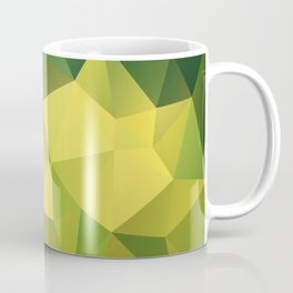 Abstract of triangles polygon in green yellow lime colors Coffee Mug