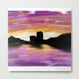 Scottish sunset Metal Print
