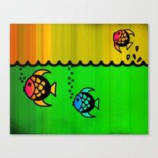 Slippery fish Canvas Print