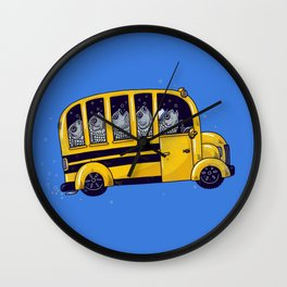 Off to School Wall Clock