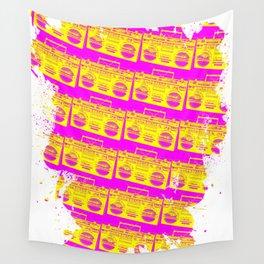 Boombox Pattern Wall Tapestry