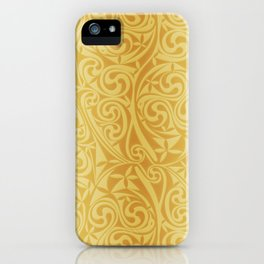Celtic Warlord gold iPhone Case