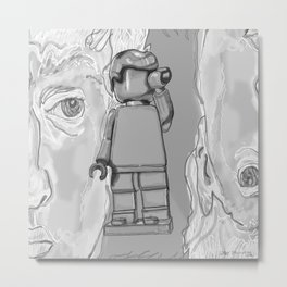 David of Lego Metal Print