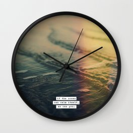 Calm Yourself Wall Clock