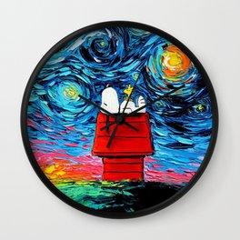 sleeping snoopy Wall Clock
