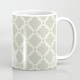 Interlocking circles greige Coffee Mug