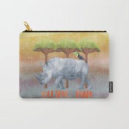 RHINO - FUN - rhinoceros - Africa Animal on #Society6 Carry-All Pouch