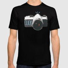 Click! - camera Mens Fitted Tee Black MEDIUM