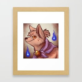 Kuzu Fox Kit Portrait Framed Art Print