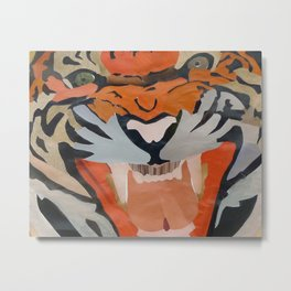 Tiger Collage Metal Print
