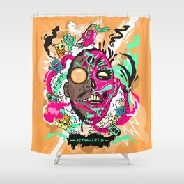Flying Lotus Shower Curtain