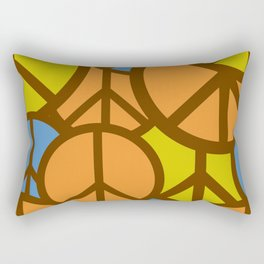 Cool Colorful Groovy Peace Symbols #society6 #decor #buyart #artprint Rectangular Pillow