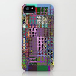 Pastel Playtime - Abstract, geometric, textured, pastel themed artwork iPhone Case