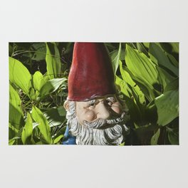 Garden Gnome among Lilies of the Valley Rug