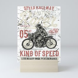 Speed Raceway Motor Racer Mini Art Print