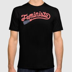 Feminista Black Mens Fitted Tee X-LARGE