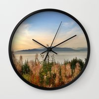vancouver Wall Clocks featuring Vancouver  by amberino