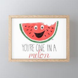 You're One In A Melon Framed Mini Art Print