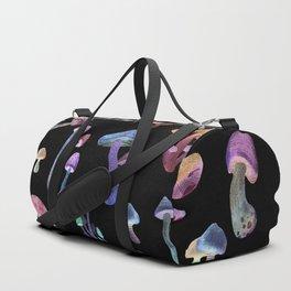 Mushrooms in dark Duffle Bag