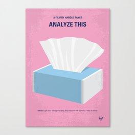 No968 My Analyze This minimal movie poster Canvas Print