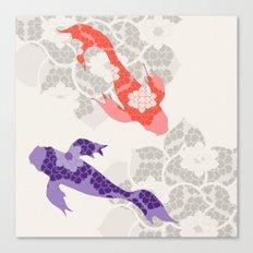 Purple and Orange Koi Canvas Print