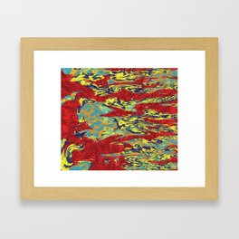 Colorful Digital Abstract Composition 10 Framed Art Print