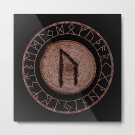 Uruz Elder Futhark Rune determination, persistence, freedom, courage, will, territoriality Metal Print