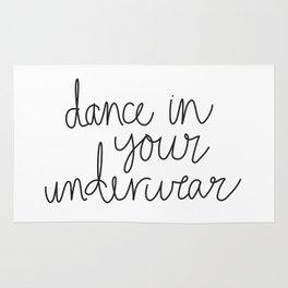 Dance in your underwear Rug