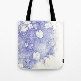 Lotus in blue Tote Bag