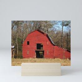 Weathered Red Barn Mini Art Print