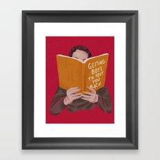 Studying (Gender Swap) Framed Art Print